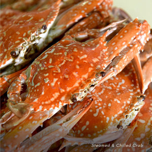 Wild-caught imported large crab steamed & chilled (approx. 4 crabs/1 kg for 2 pax)