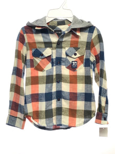 Joe's SIZE 4T Multi NEW Long Sleeve Plaid Button Down Flannel Shirt