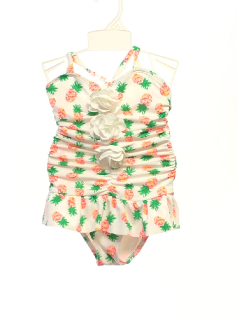 Janie & Jack SIZE 4 White Ruffle Pineapple One Piece Suit