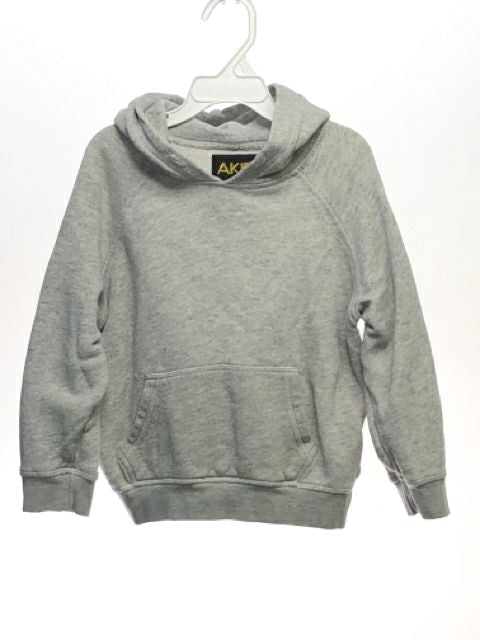 Unisex Akid SIZE 6 Gray Long Sleeve Kanga Pocket Solid Hoodie Sweatshirt
