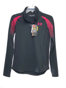 Girl's Under Armour SIZE YXL Black NEW Quarter Zip Jacket