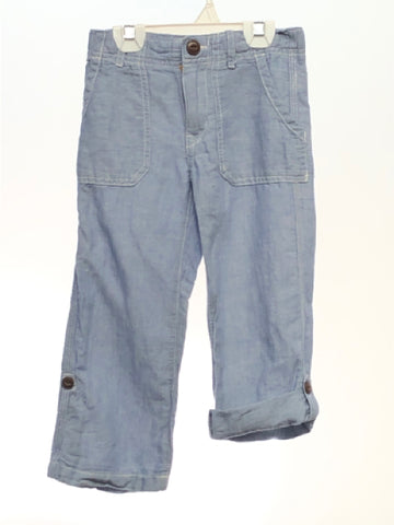 Gap SIZE 4 Light Blue Solid Pants