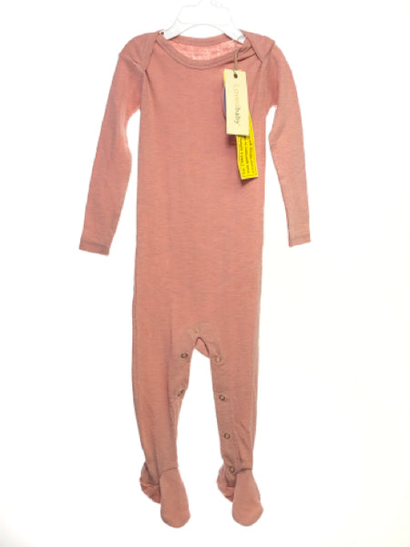 Girl's L'ovedbaby SIZE 18-24 Months Rose NEW with TAGS Organic Pajamas