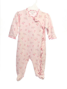 Kissy Kissy SIZE 3-6 Months Pink Long Sleeve Ruffle Floral Sleep & Play