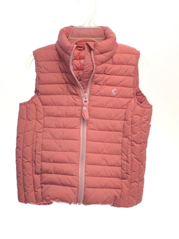 Girl's Joules SIZE 4 Pink Quilted Solid Vest - Cold Weather
