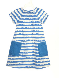 Hanna Andersson SIZE 3T White Short Sleeve Pocket(s) Stripe Dress
