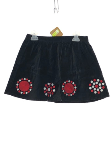 Girl's Crazy 8 SIZE 5/6 Black NEW with TAGS Embroidered Velour Skirts / Skorts