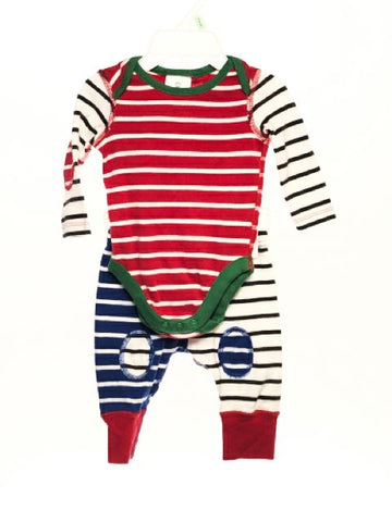 Hanna Andersson SIZE 0-3 Months Multi Stripe Bodysuit Pajamas