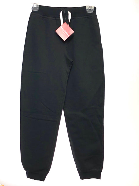 Girl's Han-MM SIZE 10 Black NEW Solid French Terry Pants