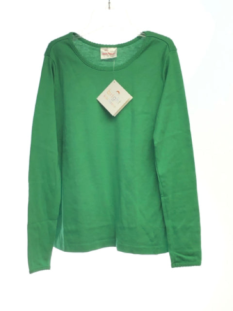 Girl's Hanna Andersson SIZE 10 Green NEW Solid Long Sleeve T-Shirt