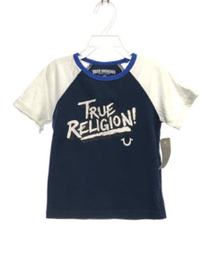 True Religion SIZE 4 Navy Short Sleeve Solid Graphic T-shirt