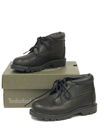 Timberland SIZE 8.5 Toddler Black Mid-Top Boots