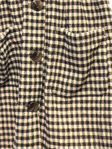 Girl's Zara SIZE 6 Tan NEW with TAGS Pocket(s) Plaid Wool Blend Jumper