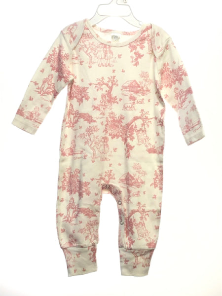 Girl's Tesa Babe SIZE 12-18 Months White Long Sleeve Vintage Romper / Jumpsuit
