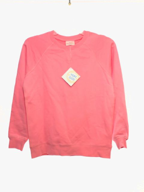 Girl's Hanna Andersson SIZE 12 Pink NEW Solid Long Sleeve Sweatshirt