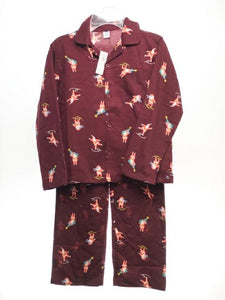 Unisex Old Navy SIZE 8 Burgundy NEW 2 Piece Santa Christmas Pajamas
