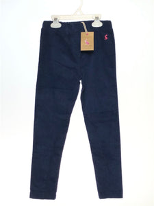 Joules SIZE 6 Navy NEW Solid Velvet Pants