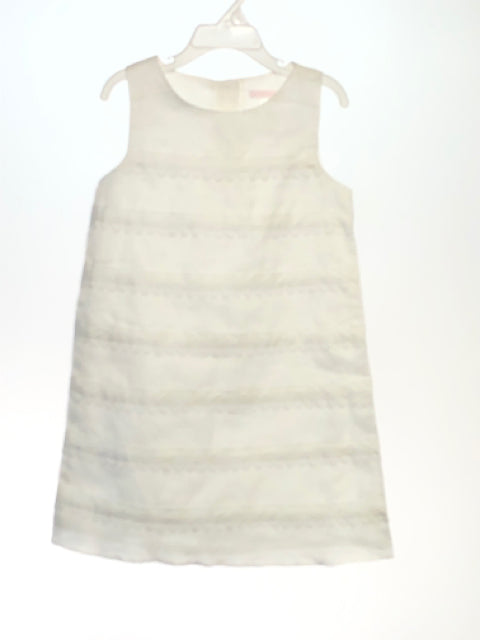 Janie & Jack SIZE 6 White Sleeveless Tiered Solid Dress