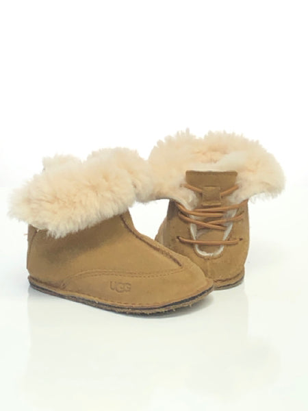 Wheat Ugg SIZE 5/6 Toddler Bootie Sherpa Lined Suede Boots