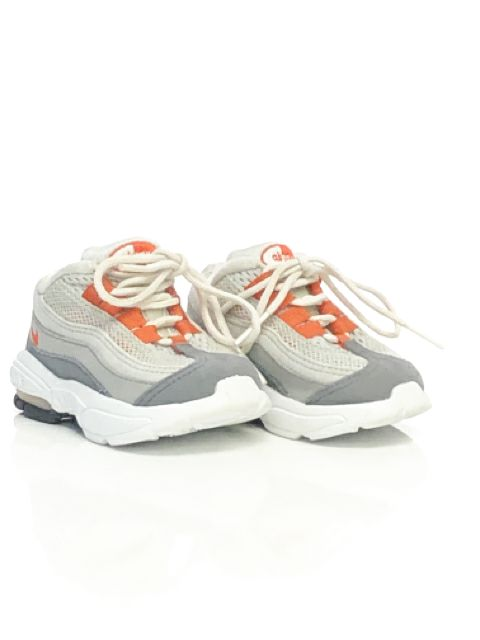Nike SIZE 3 Gray Mesh Infant Running Sneaker