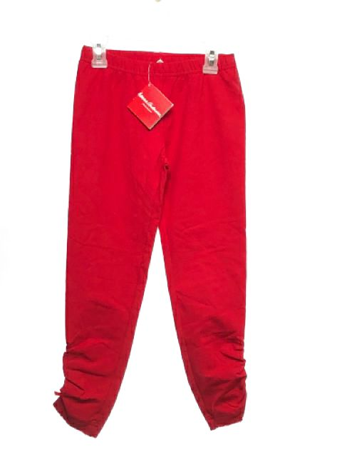 Girl's Hanna Andersson SIZE 10 Red NEW Solid Leggings