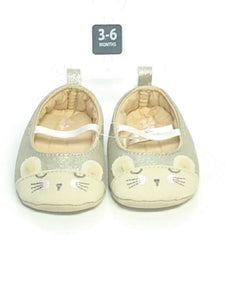 Pewter OshKosh SIZE 2 Infant Ballet Flat Shimmer Shoes