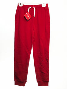 Girl's Hanna Andersson SIZE 10 Red NEW Pull-on Solid French Terry Pants