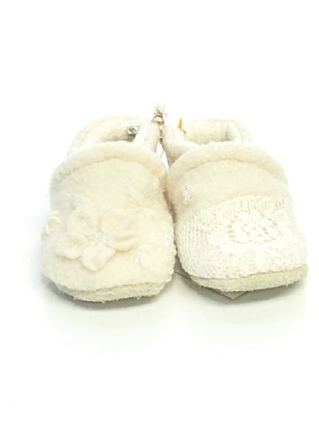 Cream Polliwogs SIZE 2 Infant Bootie Embellished Shoes