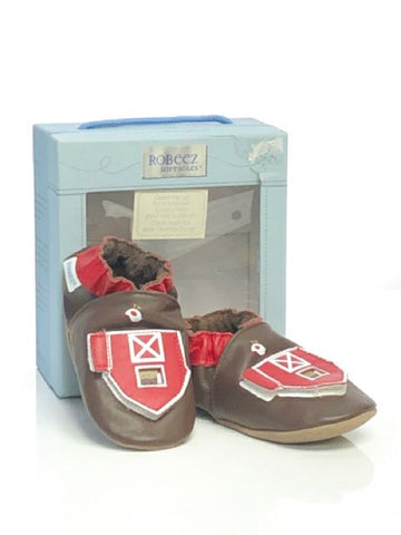 Brown Robeez SIZE 3 Infant Moccasin Leather Soft Sole Shoes