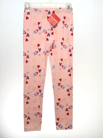 Girl's Hanna Andersson SIZE 10 Pink NEW Hearts Leggings