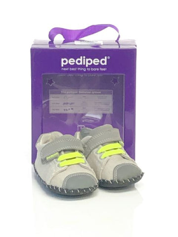 Pediped SIZE 3 Infant Gray Sneaker Soft Sole Canvas Shoes