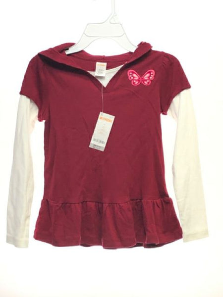 Girl's Gymboree SIZE 8 Burgundy NEW with TAGS Long Sleeve Tunic Layered T-Shirt