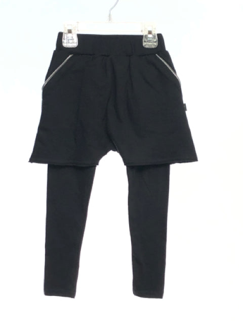 Kid Kong SIZE 2/3 Black Solid Layered Pants