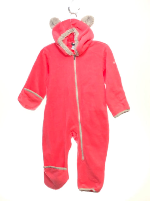 Girl's Columbia SIZE 18 Months Hot Pink Hooded Fleece Snowsuit