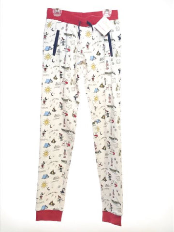 Girl's Hanna Andersson SIZE 12 White NEW with TAGS Disney French Terry Pants