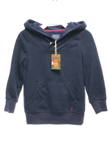Joules SIZE 5 Navy NEW Long Sleeve Solid Hooded Sweater