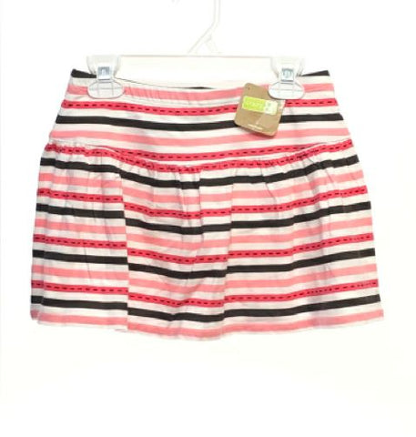 Girl's Crazy 8 SIZE 7/8 White NEW with TAGS Striped Skirts / Skorts