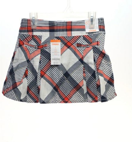 Girl's Gymboree SIZE 8 White NEW with TAGS Pleated Plaid Skirts / Skorts