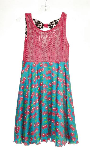 Kahn Lucas SIZE 12 Multi Reversible Fruit Sleeveless Dress
