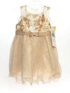 Rare Editions SIZE 24 Months Gold NEW Sleeveless Full Dress