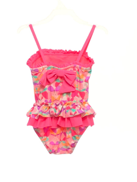 Hula Star SIZE 4T Pink Ruffle Butterflies One Piece Suit