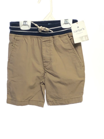 Carters SIZE 4 Tan NEW Solid Pull-on Shorts