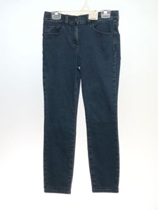 Girl's Crewcuts SIZE 10 Blue NEW Adjustable Waist Solid Denim Jeans