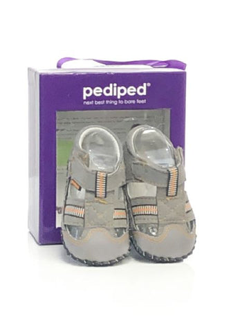 Gray Pediped SIZE 3 Infant Sandal Soft Sole Leather Shoes