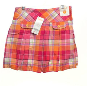 Girl's Gymboree SIZE 7 Pink NEW with TAGS Pleated Plaid Skirts / Skorts