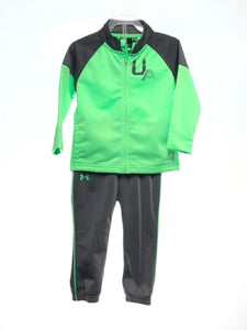 Under Armour SIZE 24 Months Green 2 Piece Solid Full Zip Pant Set