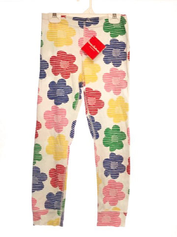 Girl's Hanna Andersson SIZE 10 White NEW Floral Leggings