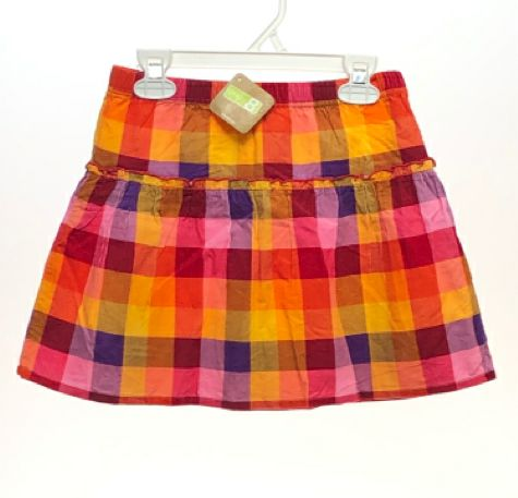 Girl's Crazy 8 SIZE 7/8 Multi NEW with TAGS Drop Waist Plaid Skirts / Skorts