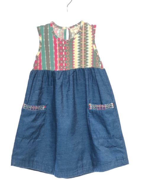 Jessica Simpson SIZE 2T Blue Sleeveless Denim Pocket(s) Dress
