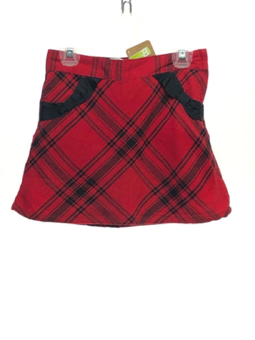 Girl's Crazy 8 SIZE 7 Red NEW with TAGS Pocket(s) Plaid Skirts / Skorts